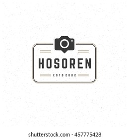 Photo Camera Design Element in Vintage Style for Photographer Logotype, Label, Badge and other.