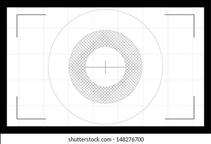 Photo camera focusing screen. Vector illustration