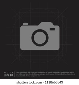 Photo camera icon - Black Creative Background - Free vector icon