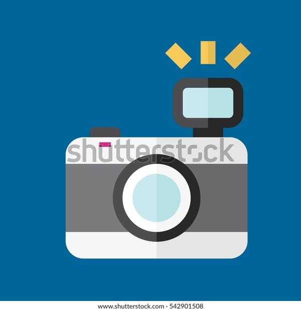 photo camera icon flat disign
