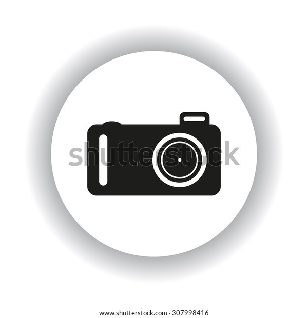 photo camera. icon. vector design