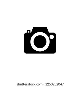 photo camera icon vector. photo camera vector graphic illustration