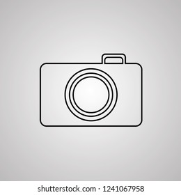 Photo camera icon vector illustration Linear symbol