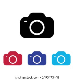 Photo Camera icon vector  photography sign
