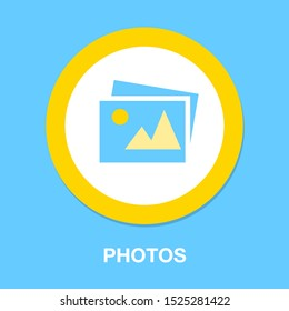 photo CAMERA icon, vector photography, digital image symbol, image gallery