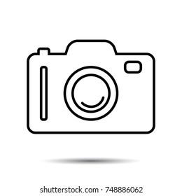 Photo or Camera Icon. Vector photography