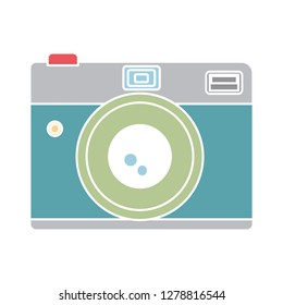 photo Camera icon-lens symbol-photography illustration-capture illustration-flash vector