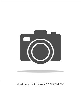 photo camera icon.Vector illustration.