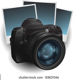 Photo camera illustration