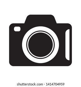 Photo camera isolated vector icon
