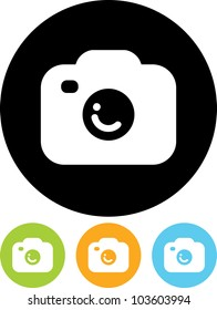 Photo camera - Vector icon isolated