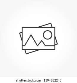Photo Camera Vector Out Line Icon