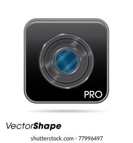 Photo camera web application icon no.2, vector illustration