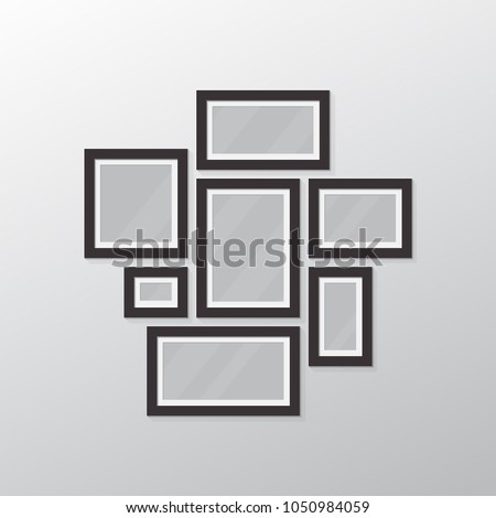 Photo Collage All Sizes Frames Template Stock Vector (Royalty Free ...