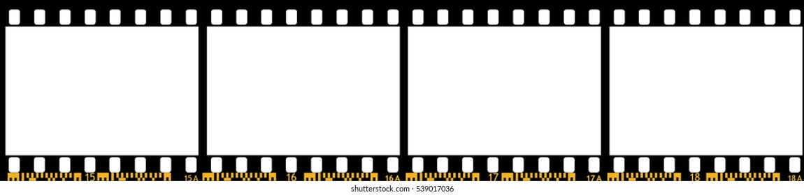 Photo film stripe, Vector Illustration.