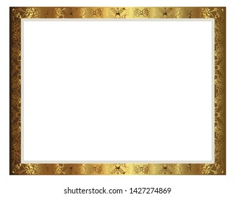 photo frame for certificate or other design vector