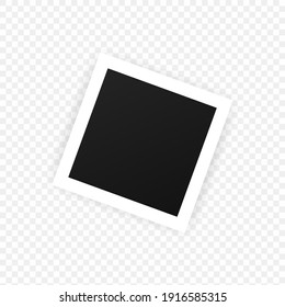 Photo frame icon. Blank space for your photo and image. Vector EPS 10. Isolated on transparent background