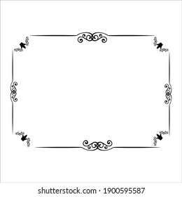 photo frame illustration, dark photo frame  with white background