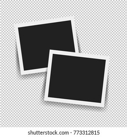 Photo Frame Isolated With Gradient Mesh, Vector Illustration