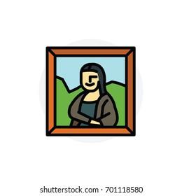 Photo Frame Isolated Line Vector Illustration editable Icon
