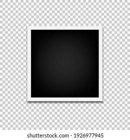 Photo frame mock up design isolated on white background.Eps 10