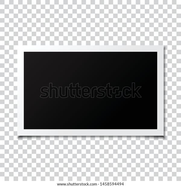 Photo frame mockup transparent background