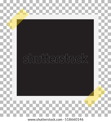 photo frame on sticky tape template stock vector royalty free