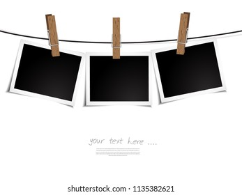 photo frame on the transparent background, grephic element concept