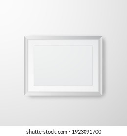 Photo frame for picture, poster or photo. Picture frame mock up. Vector illustration.