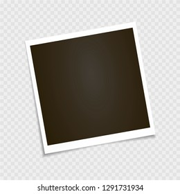 Photo frame. Polaroid frame, vector. Template. Vector illustration