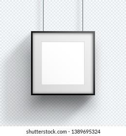 Photo Frame Single Hanging Down Square Design