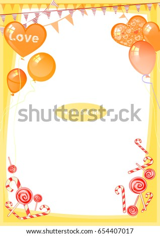 9c6fa246f444 Photo frame. Standard photo size in inches. Vector illustration for your  design. Vertical