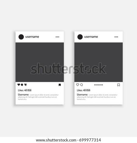 Photo Frame Vector Illustration Mobile App Stock Vector (Royalty ...