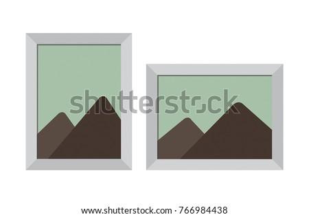Photo Frame Vertical Horizontal Vector Stock Vector Royalty Free