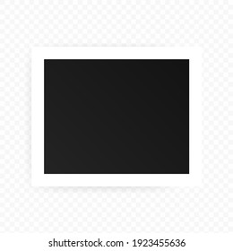 Photo Frames icon. Realistic square black frames mockup, vector. Template for picture, painting, poster, lettering or photo gallery. Vector EPS 10. Isolated on transparent background