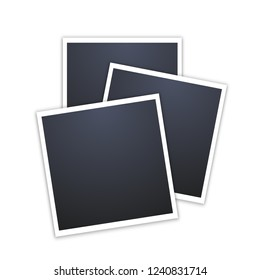 photo frames isolated on white. vintage style. Vector illustration