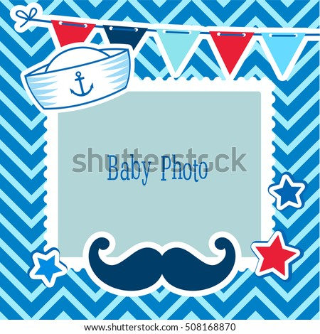 Photo Frames Kids Decorative Template Baby Stock Vector Royalty