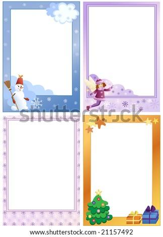 Photo Frames Kids Winter Theme Set Stock Vector (Royalty Free ...
