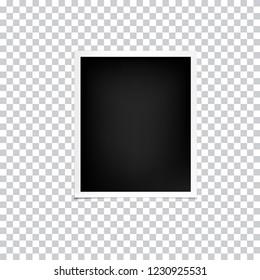 Photo frames mockup isolated on transparent background, vector illustration