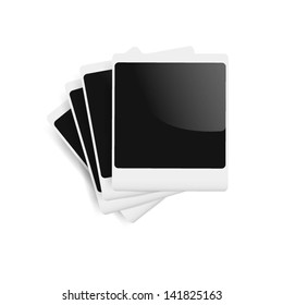 photo frames on an isolated white background