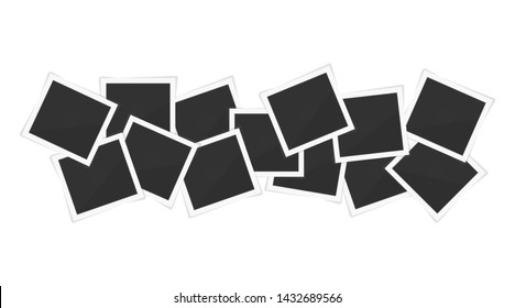 photo frames. Square frame template with shadows isolated on white background. Vector illustration