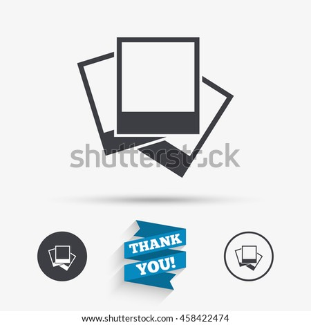 Photo Frames Template Sign Icon Empty Stock Vector Royalty Free