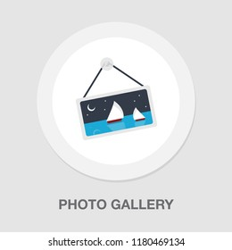 photo Gallery icon - photo gallery element - picture frame symbol