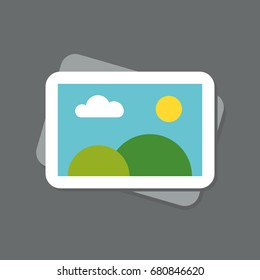 photo icon flat rock sky web icon vector sun clouds nature portfolio icon gallery folder slide show presentation painting exhibition