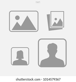 Photo icon or image icon. Abstract picture sign and symbol. Vector illustration.