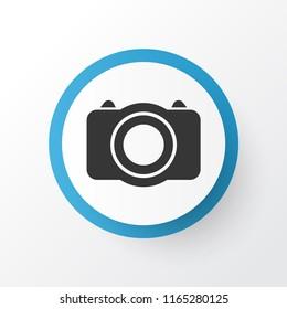 Photo icon symbol. Premium quality isolated camera element in trendy style.