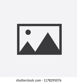 Photo Icon in trendy flat style isolated on white background.