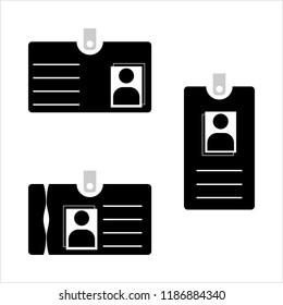 Photo Id Card, Identity Card Design Vector Art Illustration