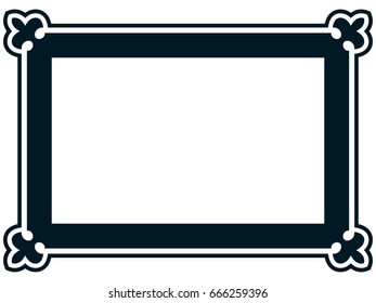 Photo picture art frame border vector simple