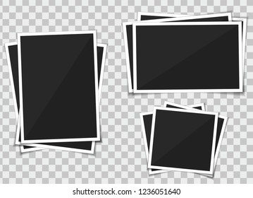photo picture frame polaroid. Vector isolate on transparent background.